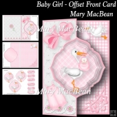 Baby Girl - Offset Front Card