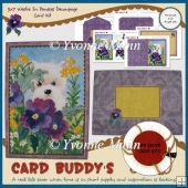 5x7 Westie In Pansies Decoupage Card Kit