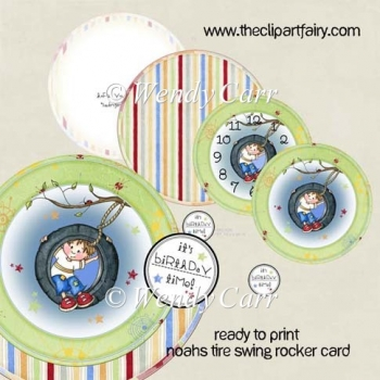 Noah's Tire Swing - RTP Rocker Card(Retiring in August)