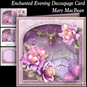 Enchanted Evening Decoupage Card