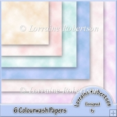 6 Colourwash Papers