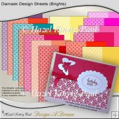Damask Design Sheets (Brights)