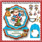 Jingle Bells Christmas Dog Scalloped Easel Card Kit
