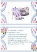 pretty flower lilac shoes with lippy & butterfly A5 Insert