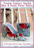French Country Garden Shoe & Coordinating Purse Gift Favor Boxes