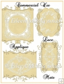 Commercial Use Gold Lace Applique Mats