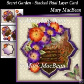 Secret Garden - Stacked Petal Layer Card