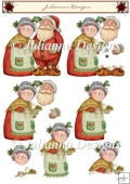 Mr and Mrs Claus Decoupage
