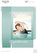 Swimmer Girl Black Costume Gift Bag