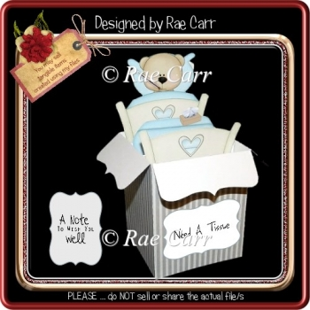 876 Get Well Box Card *HAND & MACHINE Formats*