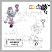 Cleaning Robot and Sentiment Digital Stamps