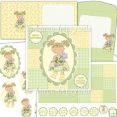 May Flower Girl Square Card Kit