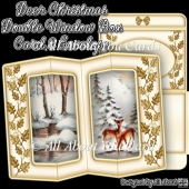 Deer Christmas Double Window Box Card