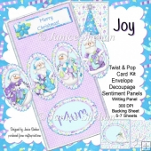 Christmas Santa Joy 3D Twist and Pop Card Kit