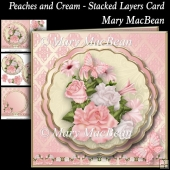Peaches and Cream - Stacked Layers Card