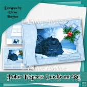Polar Express Christmas Cardfront Kit