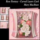 Rose Fantasy - Curved Layers Card