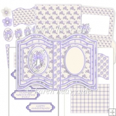 Lilac Bells Open Book Easel Card