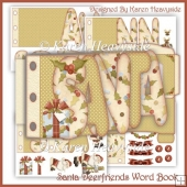 Santa Deerfriends Word Book