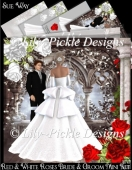 Red & White Roses Bride & Groom Mini Kit