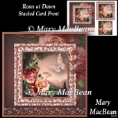 Roses at Dawn - Stacked Card Front