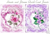 Hearts and Flowers Pair of Quick Card Fronts