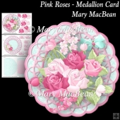 Pink Roses - Medallion Card