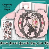Paris Pooch Double Pop Out Card Kit