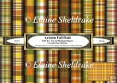 Autumn Plaids Set One - Ten A4 Sheets