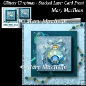 Glittery Christmas - Stacked Layer Card Front