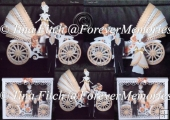 Bride & Groom 3D Wedding Carriage, SVG, SCAL, FCM, CAMEO, CRICUT
