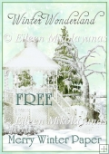 FREE Cottage Chic MERRY WINTER Christmas Backing Paper