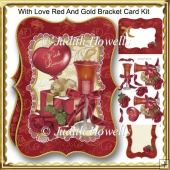With Love Red And Gold Bracket Card Kit
