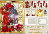 Christmas Joy Card Kit with inserts and envelope