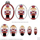 Toy Soldier 1 Christmas Bauble Pyramage Sheet