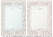2 x A5 Pink (3) Lace Frames for Card Making & Scrapbooking