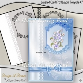 Layered Card Front Layout Template #7