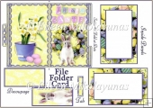 Easter Bunny File Folder Shaped Card Set