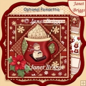 WARM WINTER WISHES 7.5 Christmas Decoupage & Insert Kit