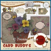 Potted Flowers Decoupage Shaped Fold Card Kit