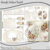 Butterfly Scalloped Gatefold