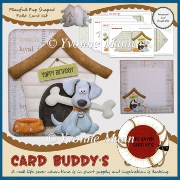 Playful Pup Shaped Fold Card Kit