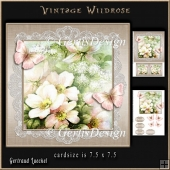 Vintage Wildroses Topper 923