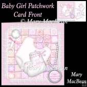 Baby Girl Patchwork Card Front