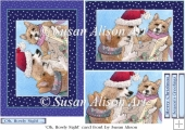 Oh, Howly Night carol singing corgi dogs card front
