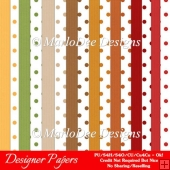 Be Thankful A4 size Digital Papers Package 3