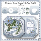 Christmas Scene Shaped Side Fold Card Kit