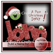 A Pea Christmas Build a Name Kit