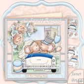 Congratulations Mice 8x8 Wedding Day Mini Kit & Decoupage
