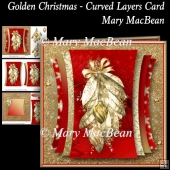 Golden Christmas - Curved Layer Card